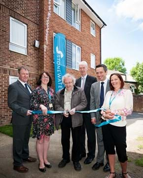 Council opens new Stonewater development of low-cost rental homes in Aldershot