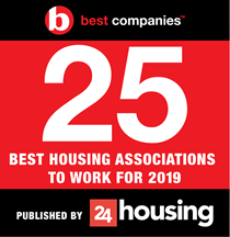 24 housing best companies article stating stonewater ranked in 25 best housing associations to work for in 2019.