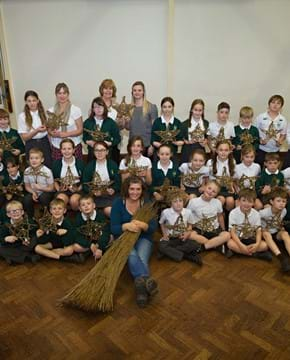 North Mundham pupils' stars reveal  'ins and outs' of willow weaving