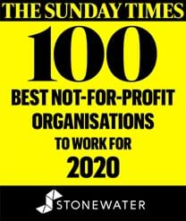 Sunday times article stating stonewater ranked in top 100 best not for profit organisations to work for in 2020.