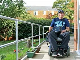 A customer at a supported living property