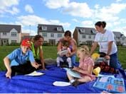 Play rangers, mums and kids at the session, held at Redrow Homes, The Heathfields, near Taunton.jpg