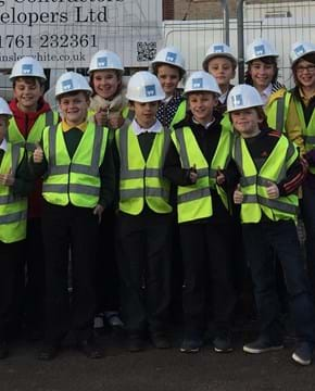 Evercreech pupils learn about housebuilding