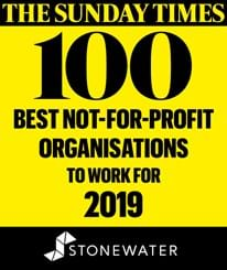 Sunday times article stating stonewater ranked in top 100 best not for profit organisations to work for in 2019.