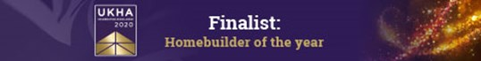 Banner image that says Finalist, Homebuilder of the year